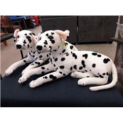 "2 New 24"" Long Plush Dalmatian Dogs"
