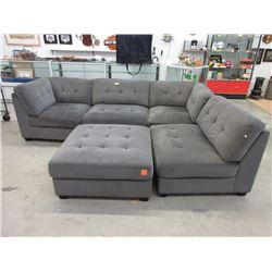 4 Piece Modular Sofa with Large Ottoman