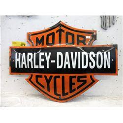 Vintage Harley Davidson Enameled Shield Sign