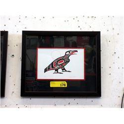 Richard Shorty Framed Print - Raven