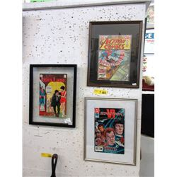 3 Collectable Pressure Framed Comic Books