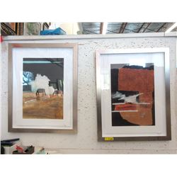 "Pair of Framed Horse Prints - 25"" x 32"""