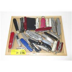 30 Assorted Multi-Tool Pocket Knives