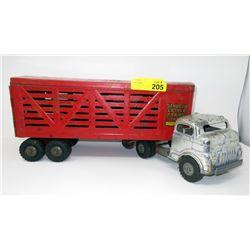1950s Structo Cattle Farm/Livestock Semi-Truck