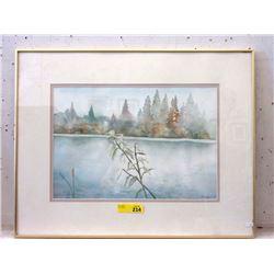 1988 Signed Original Margaret Engst Water Color
