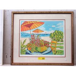 Signed and Numbered Van Pitterson Serigraph