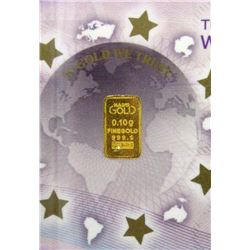 3 x .9999 Gold One-Tenth Gram German Mint Bars