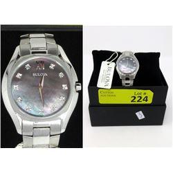 New in Box Ladies 11-Diamond Bulova Watch