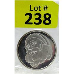 1 Oz Vintage 1999Santa .999 Silver Round