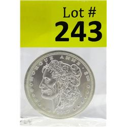 1 Oz. Zombuck .999 Silver Art Round