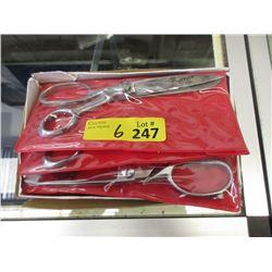 "6 New Pairs of 8"" Stainless Steel Scissors"