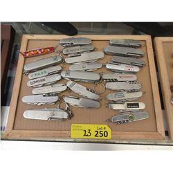 23 Metal Handled Multi-Tool Pocket Knives