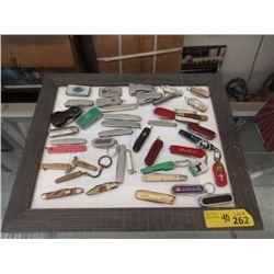 40 Small Pocket Knives - Many have logos