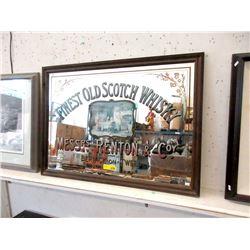 Wood Framed British Pub Whiskey Mirror