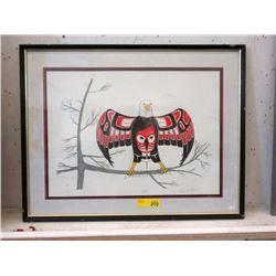 Signed 1990 Richard Shorty Eagle Print