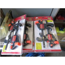 6 New 2 Piece Wood Clamp Sets