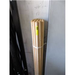 24 New Wood Screw-In Mop/Broom Handles