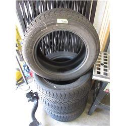 Set 4 Winter Claw Tires - 255/55R18 - 60% Tread