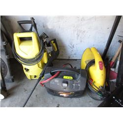 2 Pressure Washers & Battery Booster