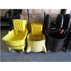 3 Commercial Mop Buckets