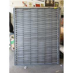3 Metal Framed Woven Resin Panels