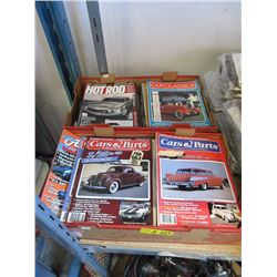2 Boxes of Cars & Parts and Hot Rod Magazines