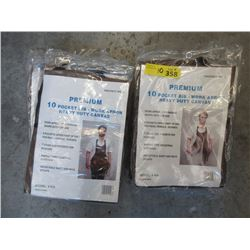 10 New Bib Aprons -  Heavy Duty Canvas