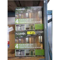 4 Sets of 4 Solar LED Accent Lights