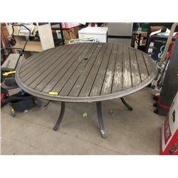 Metal Patio Table - 5 Foot Diameter
