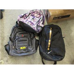 3 Backpacks - Store Return