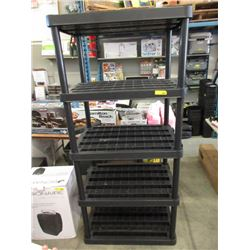 """5 Tier Plastic Shelf - 24 x 35 x 75"""" Tall"""