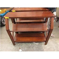 """2 Tier Wood Shelf - 15 x 38 x 32"""" Tall"""