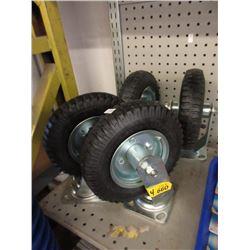 "4 New 8"" Swivel Air Tires"
