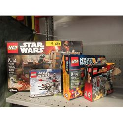 4 LEGO Sets - Contents Not Verified.