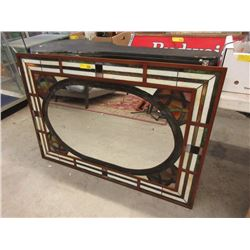 Metal Framed Stained Glass Mirror
