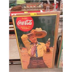 Coca-Cola Poster with Vintage Image