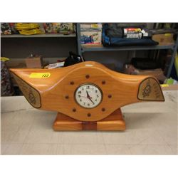 Maple Airplane Propeller Prop Air Force Clock