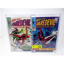 "Two Vintage 12¢ ""Daredevil"" Marvel Comics"