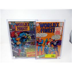 "Two Vintage 12¢ ""World's Finest"" DC Comics"