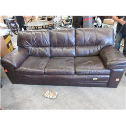 2 Brown Bonded Leather Sofas - Store Returns