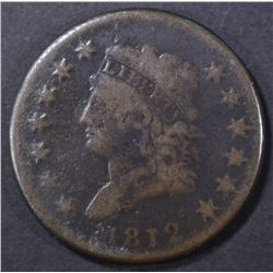 1812 LARGE CENT, VG