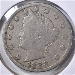 1888 LIBERTY NICKEL, FINE