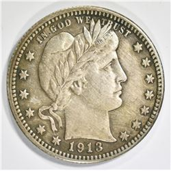 1913 BARBER QUARTER XF