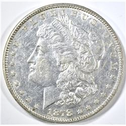 1878 7/8TF MORGAN DOLLAR, AU/BU
