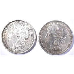 1880 & 89 AU MORGAN DOLLARS