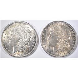 2-NICE AU 1921 MORGAN DOLLARS