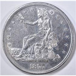 1877-S TRADE DOLLAR  AU/BU MARKS