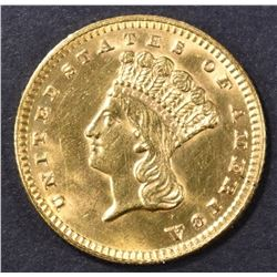 1889 $1 GOLD INDIAN PRINCESS  CH BU
