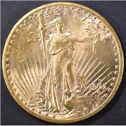 1911-S $20 GOLD ST GAUDENS   CH BU