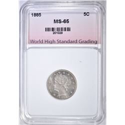 1885 LIBERTY NICKEL  WHSG SUPERB BU